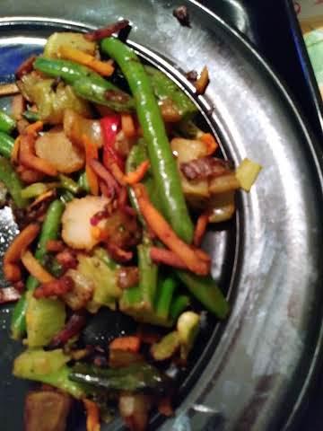 Spicy Stir-fried Vegetables