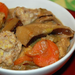 Bryant Terry's Tempeh, Shiitake Mushroom and Cornmeal Dumpling Stew