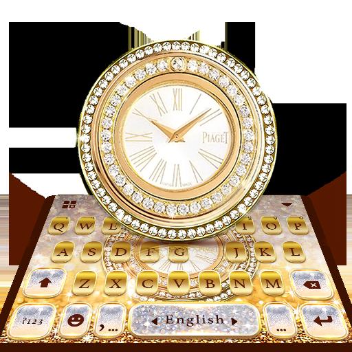 Diamond Clock Lux Keyboard Theme