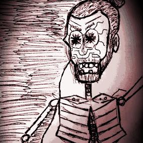 Skeleton Man by Mason Ablicki - Illustration Abstract & Patterns ( abstract, draw, ribcage, skeleton, tribal, design )