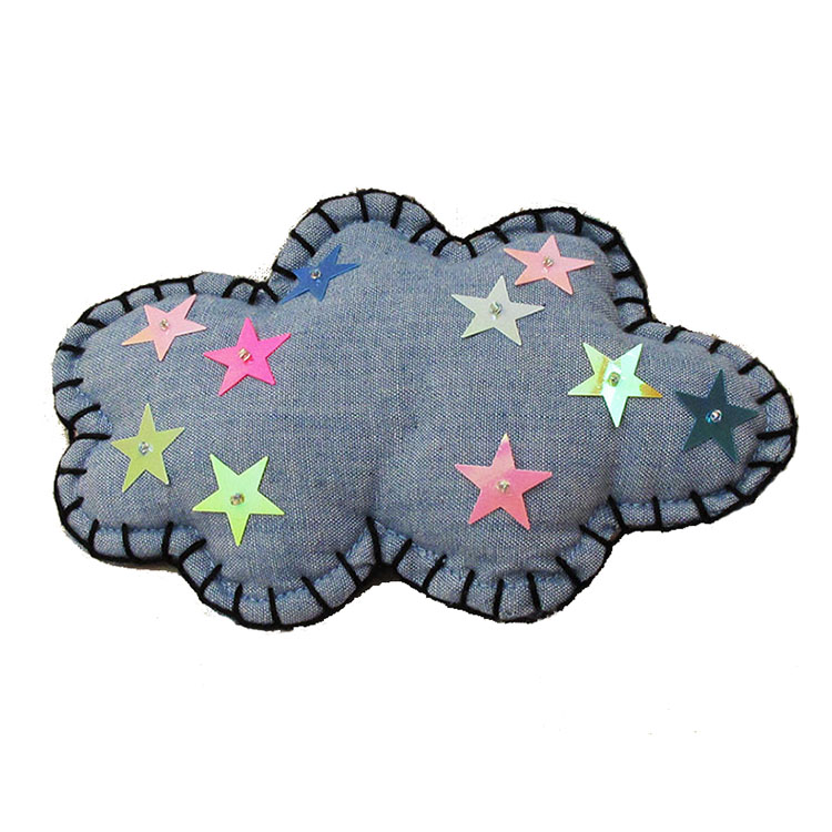 STARRY CLOUD CLIP BROOCH by STH Creative S/B