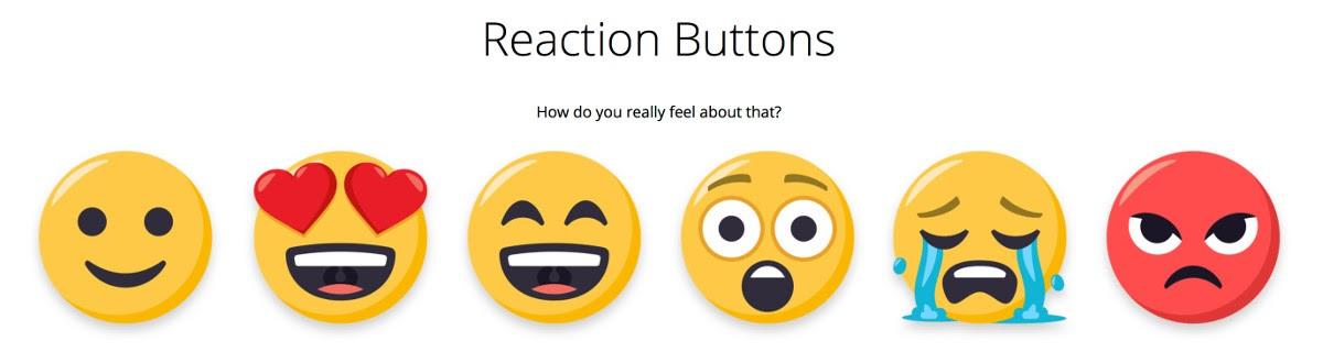リアクションボタン