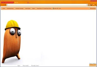 orange google chrome theme chrome web store