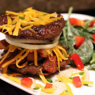 Low Carb Bacon Burger.