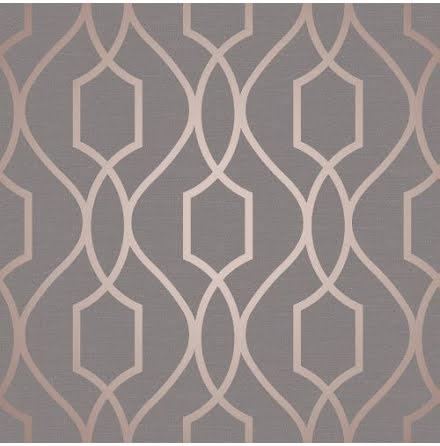 Fine Decor Apex Geometric Trellis Tapet