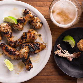 Grilled Jalapeño-Honey Chicken Wings.