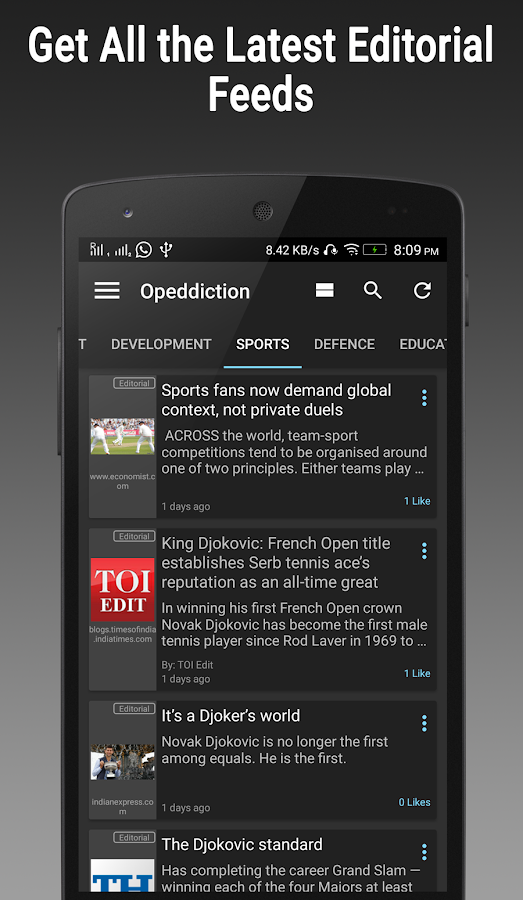 Editorial Feed - Opeddiction- screenshot