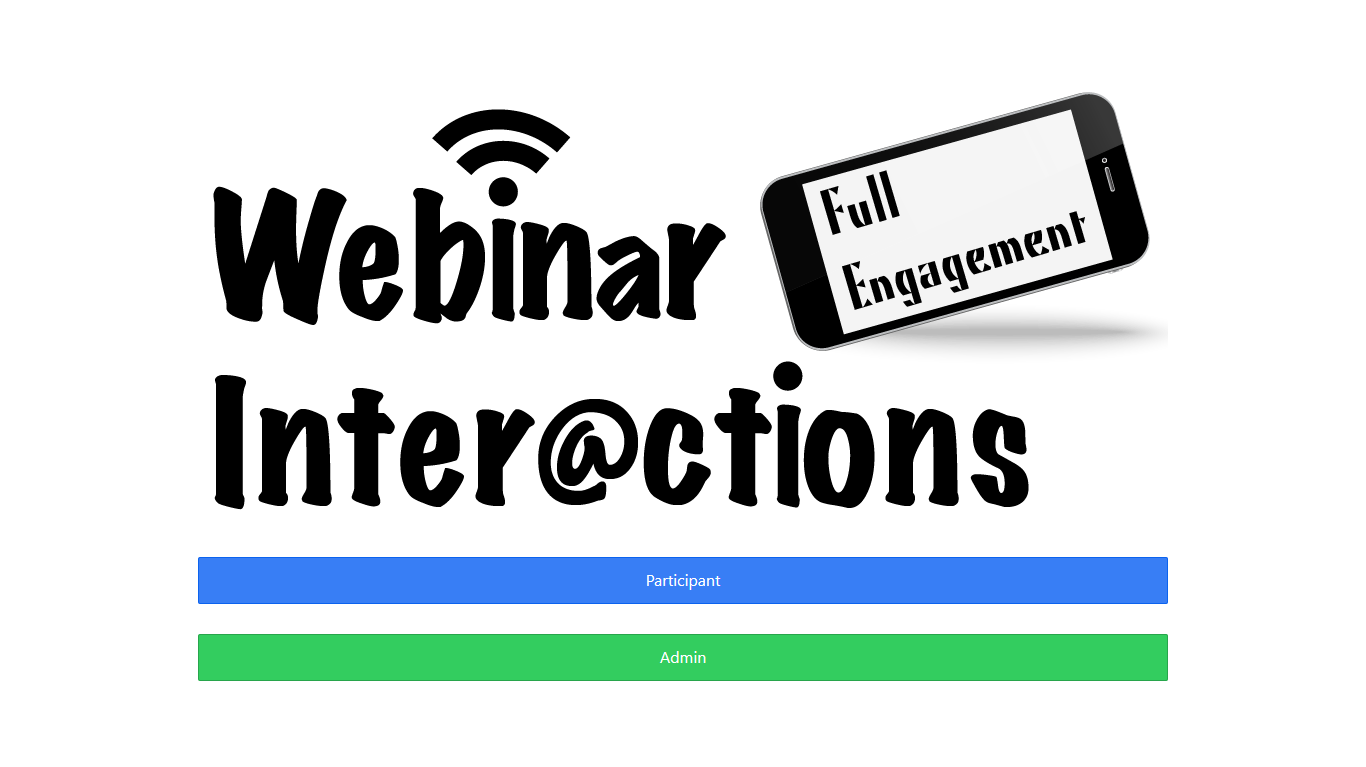 Webinar Interactions- screenshot