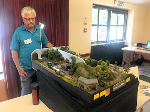 Photo: 023 They say that imitation is the sincerest form of flattery. Well, Ted Polet should be feeling very flattered with this very near absolute clone of his famous Nixnie layout, The Kydmoor Light Railway, brought along at late notice to fill one of the gaps from cancellations, by David Mitchell