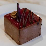 Raspberry Chocolate Square