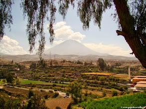 Photo: #021-La vallée de Chelina avec le volcan Misti proche d'Arequipa.