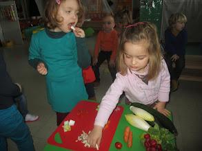 Photo: proeven van rauwe groenten