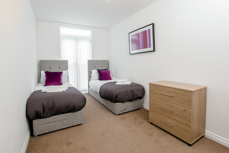 Luxury bedroom at Colchester Abbey Field Executive Apartments