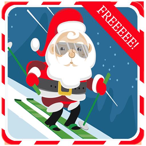 动作のSanta Crazy Ski - christmas - LOGO-記事Game