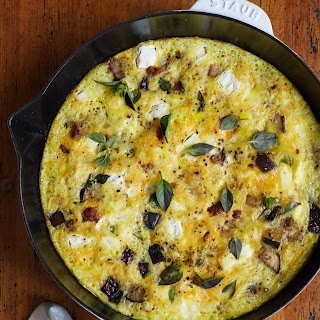 Sausage and Eggplant Summer Frittata.