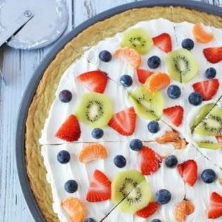 Sugar Cookie Fruit Pizza.