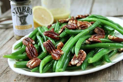 "Green Beans with Pecan Vinaigrette ""Green beans are one of the few..."