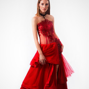 Redd by Gerrie van der Walt - People Fashion ( fashion, prom dress, gown, evening gown, red dress )