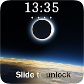 Solar Eclipse Lock Screen Wallpaper