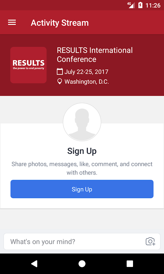 RESULTS Conference- screenshot
