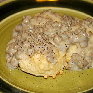 Dairy Free Drop Biscuits with Sausage Gravy