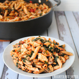 Veggie-Packed Tuscan Chicken Pasta
