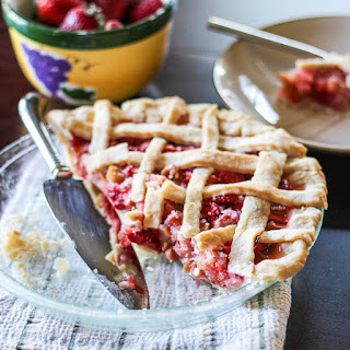 Rhubarb & Strawberry Pie.