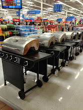 Photo: It is time for a new grill and Walmart seemed to know this by placing these right inside the front door!