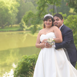 by Michelle J. Varela - Wedding Bride & Groom