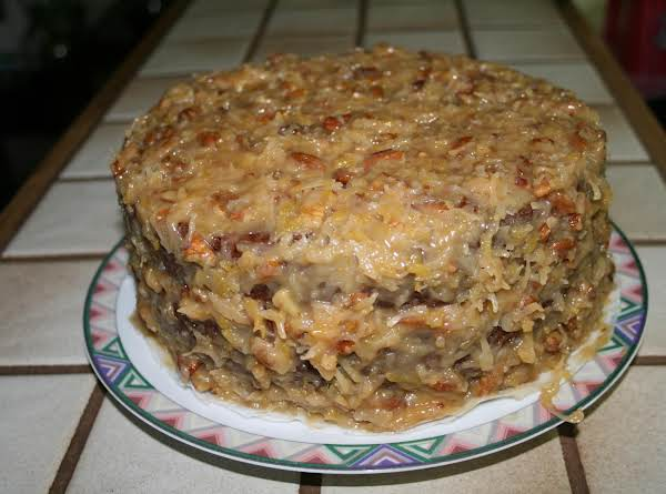 German Chocolate Cake - Scratch This Is A Very Moist Cake And Worth Your Time.