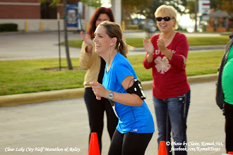 Photo: Go Mommy Go! Clear Lake (Kemah) Elks Lodge #2322 Clear Lake City Half Marathon & Relay Volunteer's in the background.