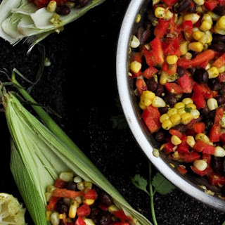 Corn, Red Pepper & Black Bean Salad with Cilantro Lime Chimichurri