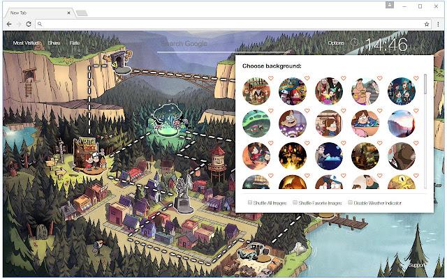 Gravity falls wallpaper hd new tab themes chrome web store - Chrome web store wallpaper ...