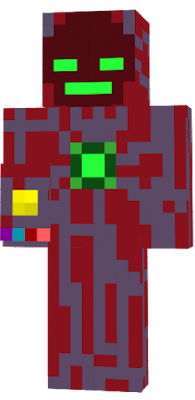It is the same as I created the green enderman armor again, only in a different color than red and with another detail on the back.