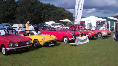 Photo: Vintage Triumphs showing off some great British engineering heritage.