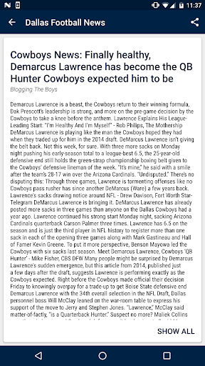 Dallas Football News  screenshots 4