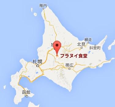 地図:フラヌイ食堂