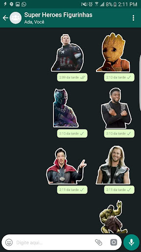 +100 Marvel WAStickerApps Figurinhas Super Heroes 이미지[3]