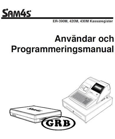 Manual Sam4s ER390M, 420M & 430M
