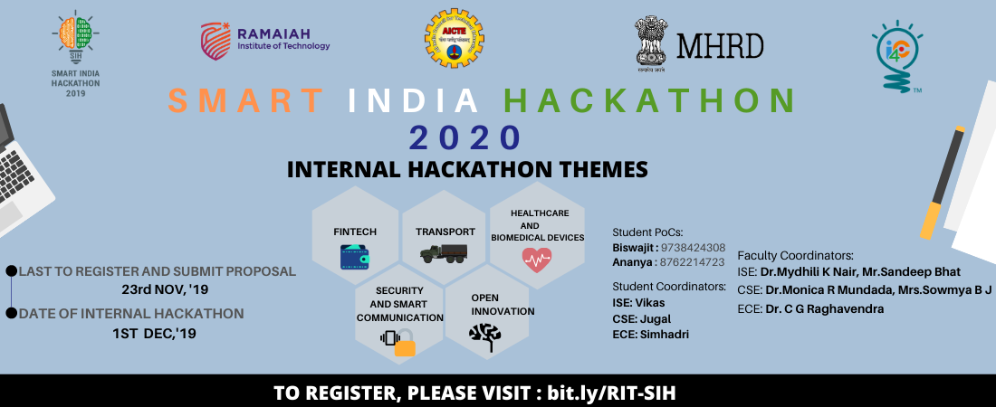 >Smart India Hackathon - 2019 IntraCollege Competition