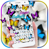 Colorful Butterflies Keypad