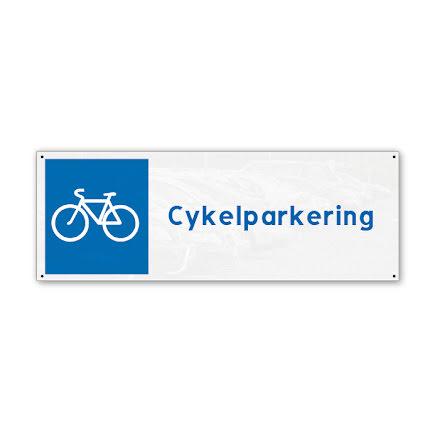 Skylt, cykelparkering, 280x100mm