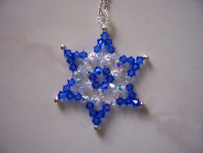 "Photo: Swarovski Crystal Star of David. Diameter: 1 3/4"" and thickness: 1/8"" with a 18"" chain. Color: Clear AB and Sapphire blue. $27.50 each."