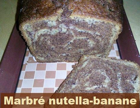 Marbré au Nutella et à la banane