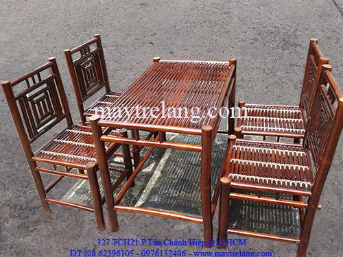 bàn ghế tre quán cafe