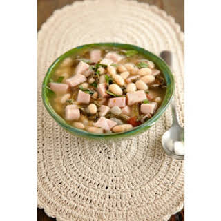 Simple Southern Ham and Bean Soup.