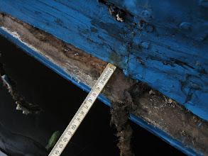 Photo: De gang is vijf centimeter naar binnen gedrukt