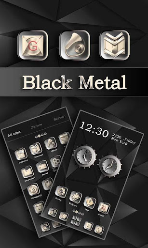 Black Metal GO Launcher Theme
