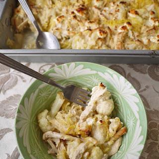 Creamy Spaghetti Squash Chicken Casserole (paleo)