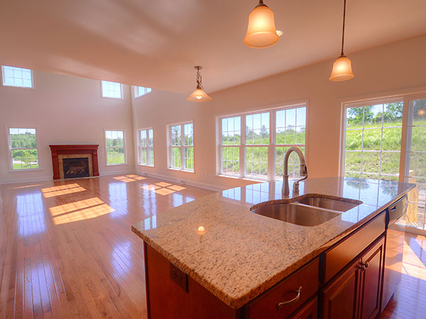 Photo: The PRESTON family room from the open kitchen.